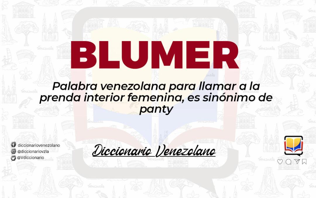 Significado de la palabra Blumer.