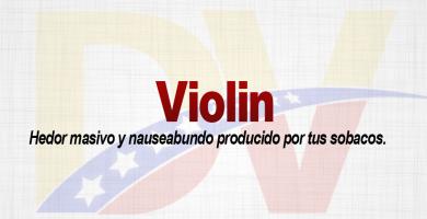 Significado de la palabra Violín