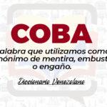 Significado de la palabra Coba