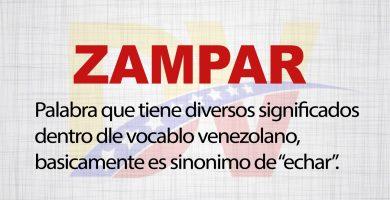 Significado de la palabra Zampar
