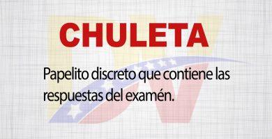 Significado de la palabra Chuleta